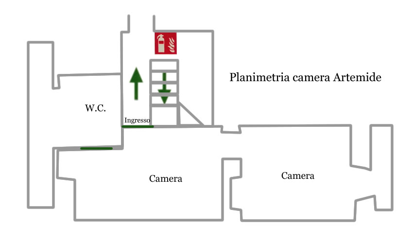 Camera Artemide planimetria