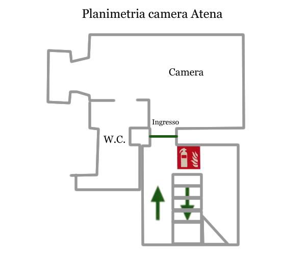 Camera Atena planimetria