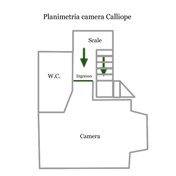 Camera Calliope planimetrie