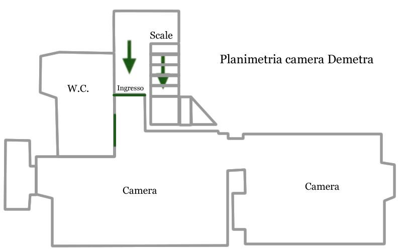 Camera Demetra planimetria